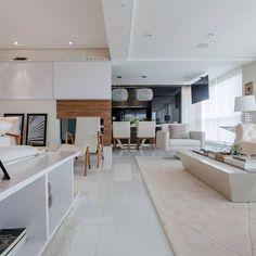 Decoração  Sala de estar com ambiente compartilhado e cores c marciaacaro 36930