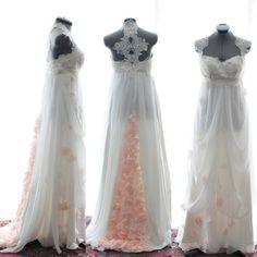 Custom Wedding GownRachel Blush and light ivory Silk by TingBridal, $1850.00