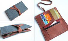 felt & leather wallet by nastya klerovski