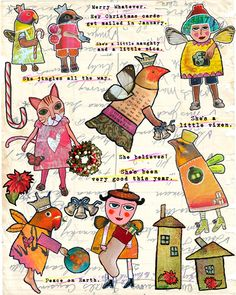https://flic.kr/p/5YRQQv | Holiday Collage Sheet from ArtChix Studio | The wonderful and delightful Helga over at ArtChixStudio.com has collaborated with me to produce these archival, professionally laser printed collage sheets. Did I mention that they are professionally laser printed? Doesn't that sound fancy?  THE DETAILS This collage sheet is jam packed with the happy little LadyBirds you know and love! The LadyBirds are sized just right for ATCs (Artist Trading Cards) and ACEOs (Art…