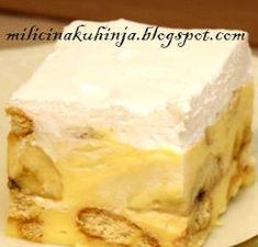 Tajni sastojak : BRZI KOLAČ SA BANANAMA Brze Torte, Kolaci I Torte, Posne Torte, Sweet Recipes, Cake Recipes, Dessert Recipes, Banana Split Dessert, Serbian Recipes, Torte Cake