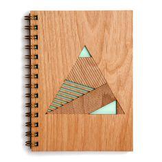 Pyramid Lasercut Wood Journal by Cardtorial on Etsy https://www.etsy.com/listing/218073254/pyramid-lasercut-wood-journal