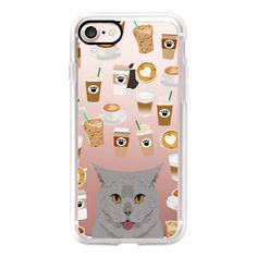 British Shorthair cat grey cute meme cat funny cell phone case gift... ($40) ❤ liked on Polyvore featuring accessories, tech accessories, iphone case, iphone cell phone cases, apple iphone case, iphone cover case, cat iphone case and iphone cases