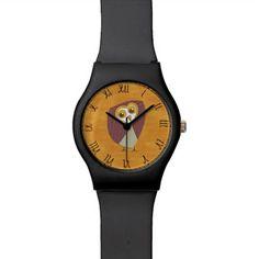 Beautiful Rustic Custom Owl Wrist Watch