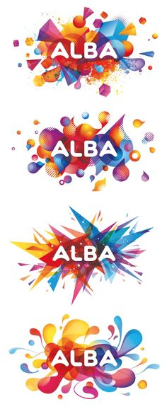 """Elmwood has designed a new visual identity for Argos-owned electronics brand Alba, with the aim of making it accessible for """"cost-conscious"""" and younger customers. The new brandmark, which features a white logo against various multi-coloured backdrops, aims to appeal to a """"younger audience"""" with a """"fun, energetic"""" look. Illustrator Chris Lemmens designed the four coloured backdrops, each one specific for Alba's four product categories of TV, audio, portable and accessories."""