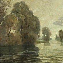 Wilhelm Volz (1855-1901), Seelandschaft, Öl, um 1890