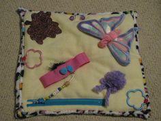 Activity blanket for dementia, Alzheimers, stroke patients, nursing home & hospital patients. via Etsy
