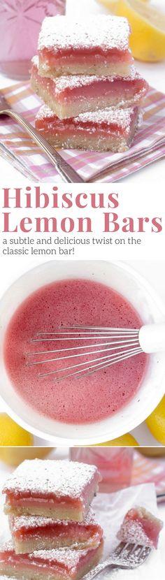 Hibiscus lemon bars