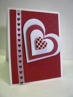 Valentine for You by GardenDiva – Cards and Paper Crafts at Splitcoaststampers nice design, just in time for Vday : ] Valentines Day Cards Handmade, Valentine Crafts, Greeting Cards Handmade, Kirigami, Creative Cards, Anniversary Cards, Diy Cards, Scrapbook Cards, Homemade Cards