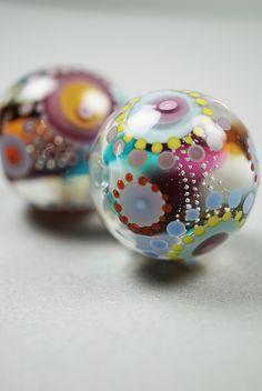 Kaleidoscope beads (handblown murano glass), made by Melanie Moertel. Each is a one of a kind wearable piece of art | www.melaniemoertel.com