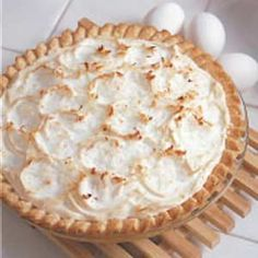 amazing coconut pie! :) seriously! Might need to make this without the meringue part!