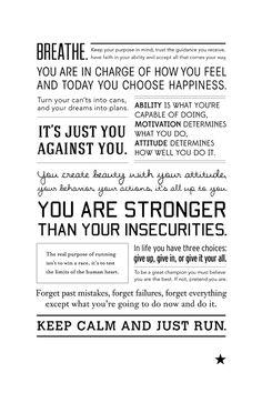 runspiration running motivation poster - run inspired