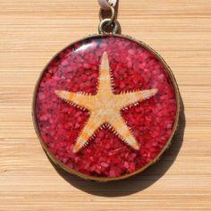 Real Starfish Necklace, Starfish Pendant, Beach Necklace, Ocean Necklace, Sea Necklace, Resin Necklace, Nautical Pendant, Nautical Necklace