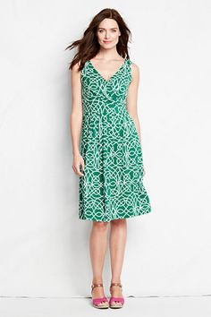 I have this dress is this pattern and also solid black - Cotton Modal Fit and Flare Dress from Lands' End