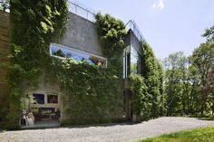 The growing (truly!) 'Art Barn', a residence for two artists
