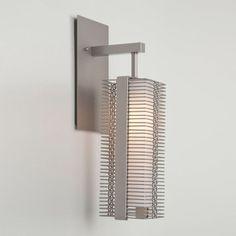 "Hammerton Studio IDB0020-11 Downtown Mesh Single Light 16"" High Wall Sconce with Metallic Beige Silver Indoor Lighting Wall Sconces"