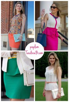 #Peplum skirt,dress or top for the office. For more #business #professional style, visit TeodoraB.com.