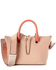 Chloe Baylee Small Leather Satchel