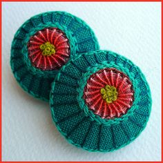 Embroidered Button/Brooch | Flickr - Photo Sharing!