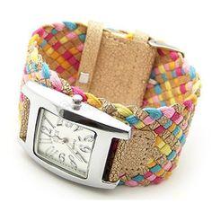 Eleganzza women s casual watch ladies bracelet watch Colourful Cream