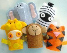 Farm Animal Felt Finger Puppets Sewing Pattern by preciouspatterns