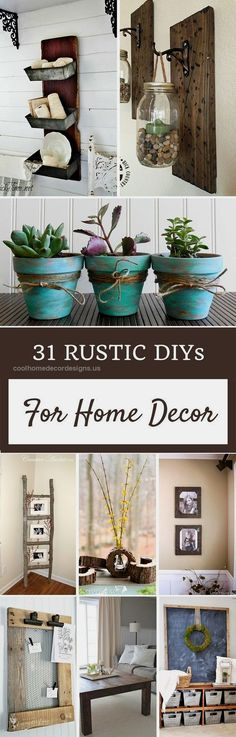 120 Cheap And Easy Diy Rustic Home Decor Ideas | Taps, Pandora And