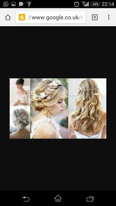 Bride, flowers and hairs