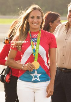 Monica Puig Puerto Rico's first gold medal in the Olimpics
