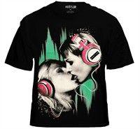 Hustler Clothing Lovers Neon T-Shirt (Black)