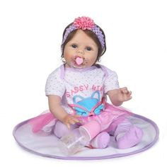 New Reborn Dolls Soft Silicone Reborn Baby Dolls Girls Princess Bebe Reborn For Kid Child Play House Toy Gifts Bonecas Reborn Baby Girl, Reborn Babypuppen, Cute Newborn Baby Girl, Newborn Baby Dolls, Newborn Baby Gifts, Baby Dolls For Toddlers, Reborn Toddler Dolls, Reborn Dolls, Kids Toys