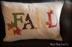 How to make a Fall pillow.....it's definitely that time of year!