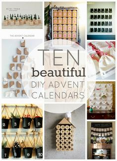 49 best advent images on pinterest christmas ideas natal and 10 beautiful diy advent calendars solutioingenieria