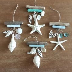 Beach Christmas Ornaments, Christmas Crafts To Sell, Coastal Christmas, Christmas Diy, Beach Christmas Decor, Purple Christmas, Natural Christmas, Snowman Ornaments, Modern Christmas