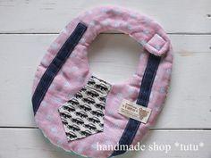 ネクタイ風スタイ7 赤ドット Handmade goods for baby&kid`s Handmade shop *tutu* 【生地】 表 Wガーゼ 中 タオル 裏 Wガーゼ
