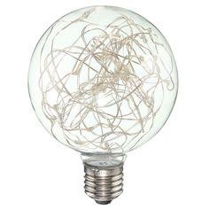 Číre LED tvoria LED žiarovky s čírym transparentným sklom. Led, Globes, Light Bulb, Retro, Lighting, Home Decor, Decoration Home, Room Decor, Globe