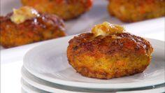 Elegant Appetizers! Mini Shrimp Cakes with Ginger Butter
