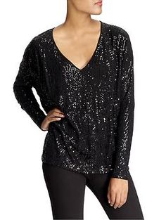 Jazinia Long Sleeve Sequin Top by Velvet by Graham & Spencer...YES PLEASE