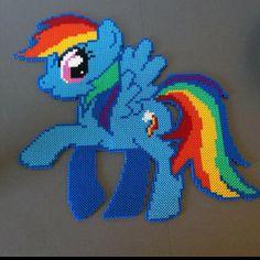 MLP Rainbow Dash hama perler beads by tinaenoe