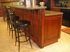 Delicieux Bar Height Island Adorned With Decorative Doors And Fillers · Maple  CabinetsKitchen ...