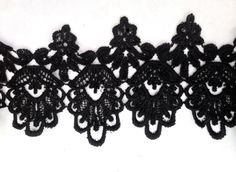 1 Yards Black Venice Lace Venise Crafts Sewing Trim Sewing Craft DIY Cards Wedding 4 3/4 inch Wide -- You can find out more details at the link of the image.