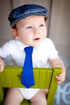 Baby Boy Necktie- Royal Blue Tie