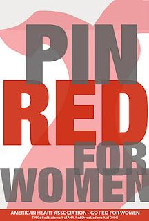 Help support awareness for women's heart health. Show your support for Go Red For Women by pinning this picture.