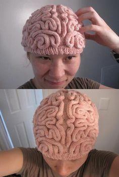 funny brain hat