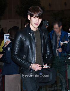 #金宇彬# [kyeongin]14.12.11 Kim Woo Bin @ Gimpo Airport  heading to Japan