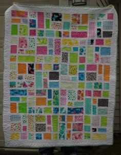 Quilt by Kris Allen.  Pattern is from Corey of Little Miss Shabby and named Ruby, Pearl, and Opal