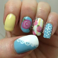 rainey_day_nails's spring tips! Show us your spring mani & you could be featured on our Pinterest and Instagram! Just use #SephoraSpring