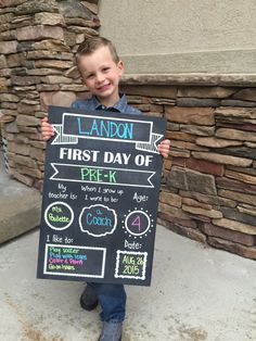 First/Last Day of School Chalkboard sign by HollysHive on Etsy