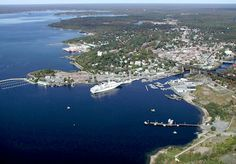 Parry Sound, Ontario the place I was born. I can spot almost all of my favourite hang out spots in this pic. TNA