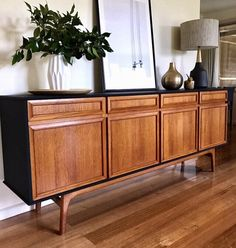 Rebecca Williams ~ Upcycled early 1970's Australian teak & matt black sideboard