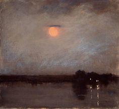 Sarah Wyman Whitman (American, 1842–1904) A Warm Night, about 1889, pastel on canvas (from theshipthatflew via: MFA)
